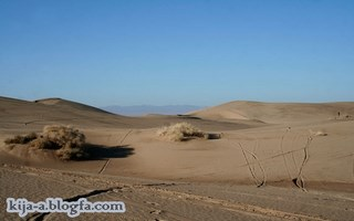 The sand dunes of Yazd (Bafgh)